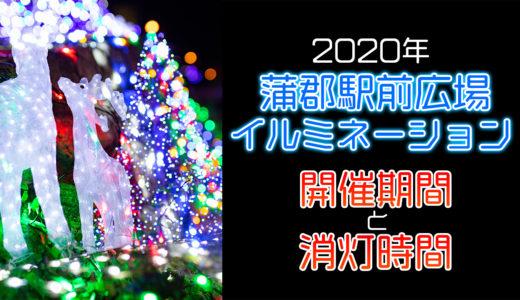 消灯時間に注意!蒲郡駅のイルミネーションを撮影してきた!【2020年】